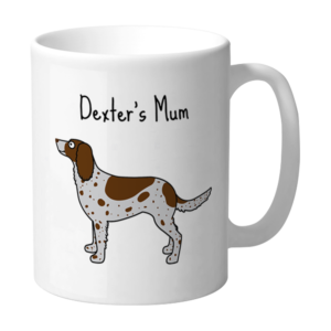 Dog's Mum Spaniel Brown and White Personalised Mug